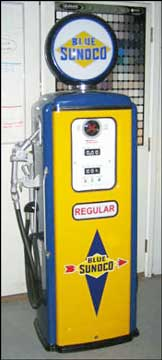 Restored Antique Gas Pumps & Lights for Sale